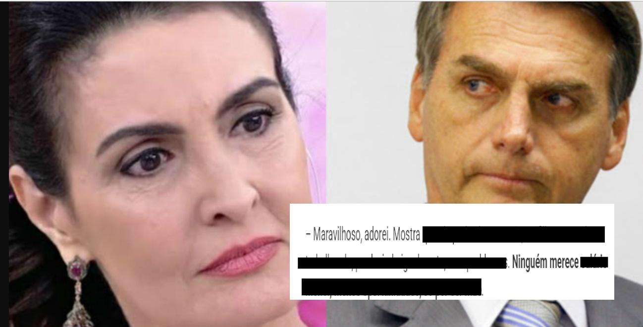 Fátima Bernardes é acusada de mensagem a Bolsonaro - Foto/Divulgação