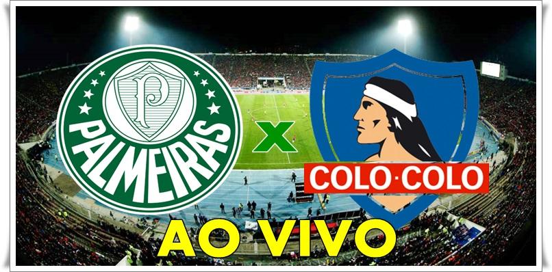 Palmeiras x Colo-Colo ao vivo no Monumental David Arellano. Foto/ Montagem