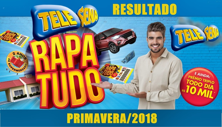 Resultado da Tele Sena da Primavera 2018. Prêmio Triplo Todo Dia. Imagem/Captura/Tele Sena