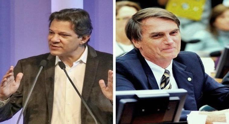 Bolsonaro e Haddad, debate na Globo. Foto/Reprodução