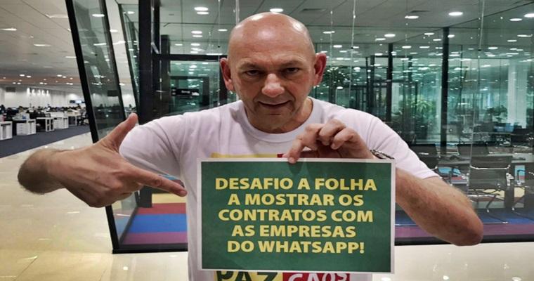 Dono da Havan reportagem da Folha Whatsapp. Imagem/Reprodução