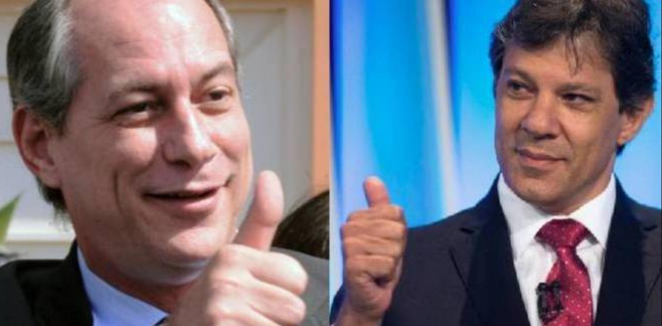 Ciro Gomes quer segundo turno entre ele e Fernando Haddad e estuda pedido de anulação da candidatura de Bolsonaro na justiça - Foto/Divulgação