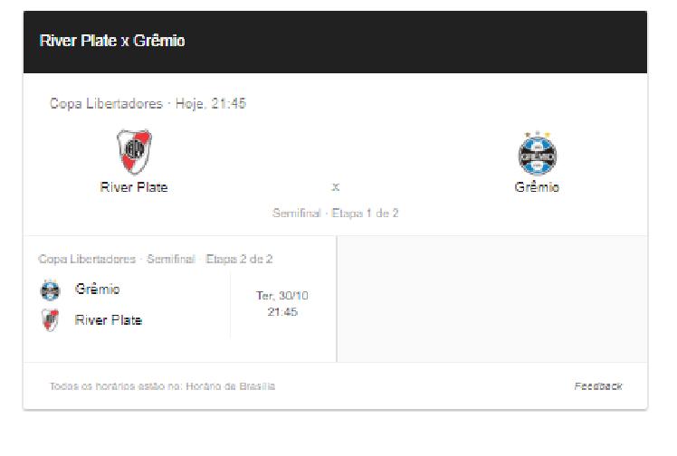 Acompanhe ao vivo o placar de Rivar Plate x Grêmio na semifinal da Libertadores – Foto/Montagem