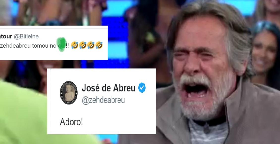 José de Abreu diz 'adoro', após hater dizer que ele tomou feio nas eleições 2018 – Foto/Reprodução