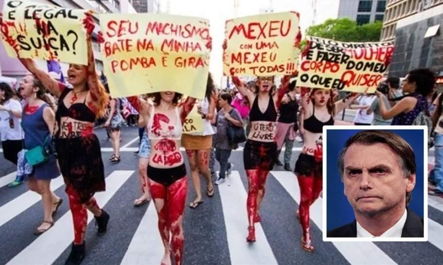 Bolsonaro sobe entre evangélicos e mulheres, após #Elenão - Foto/Montagem