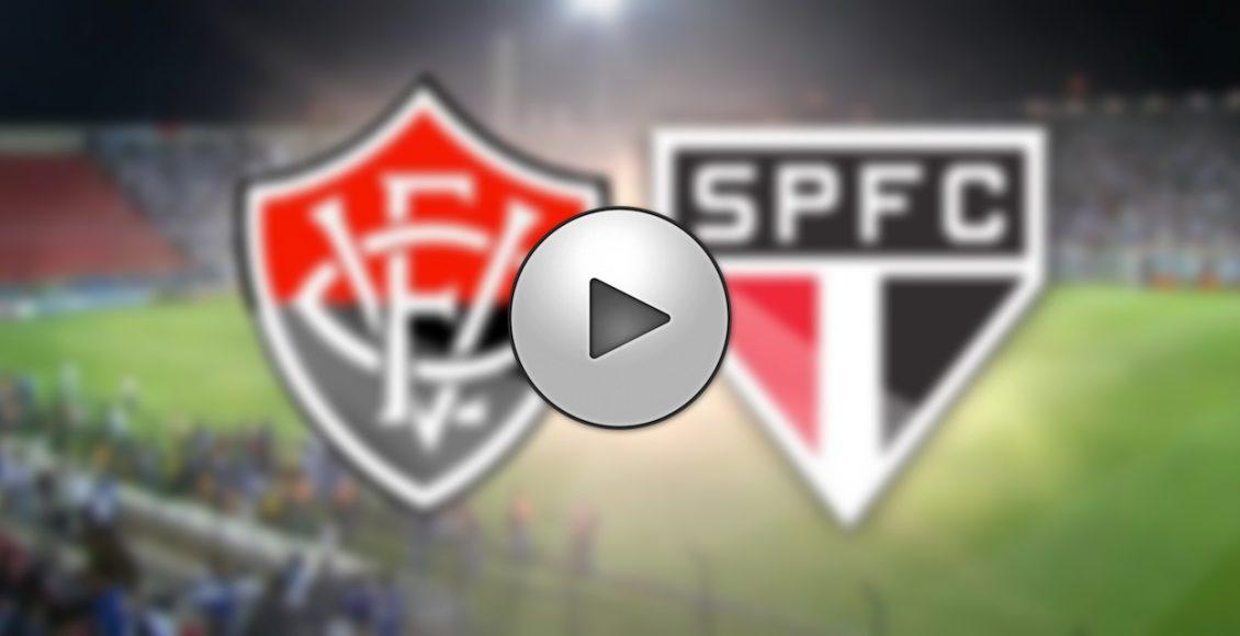 Saiba como assistir São Paulo x Vitória ao vivo online e na televisão – Foto/Montagem