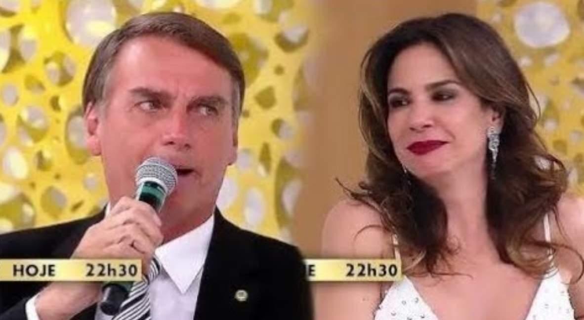 Luciana Gimenez não deve entrevistar Bolsonaro primeiro que a Globo, caso ele seja eleito presidente - Foto/Divulgação