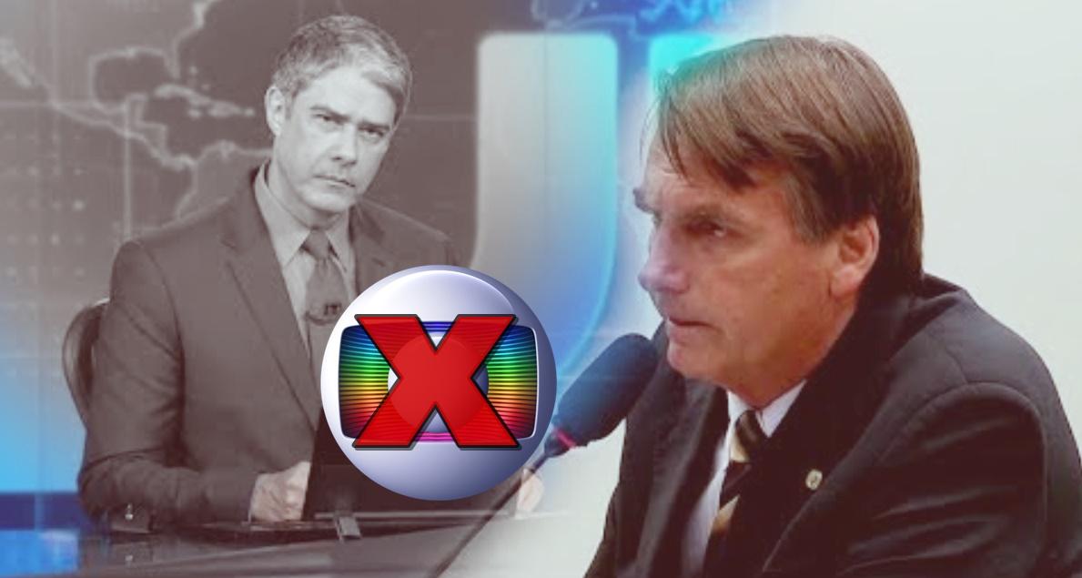 Polêmica envolve Globo e Bolsonaro, mas é mentira - Foto/Montagem