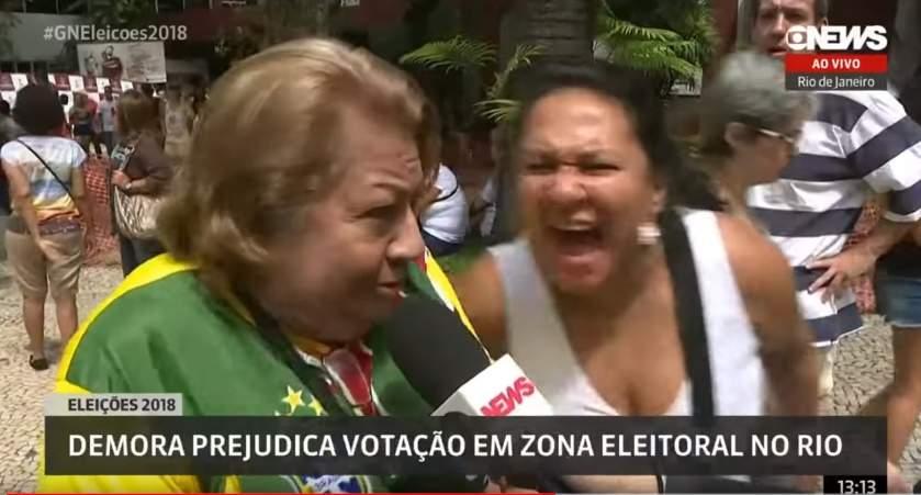 Mulher assusta eleitora de Bolsonaro com grito - Foto/Divulgação