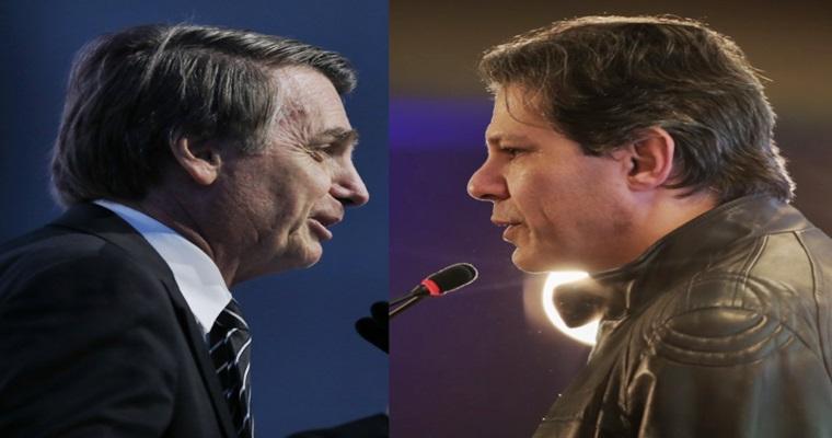 Pesquisa Ibope de hoje Bolsonaro vence Haddad no segundo turno. Foto/Reprodução