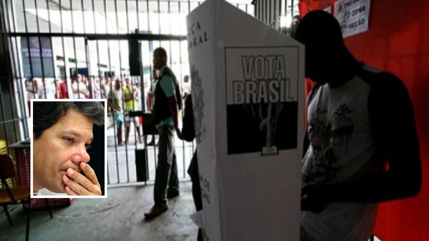 Presos da Paraíba votaram em Fernando Haddad - Foto/Ilustração