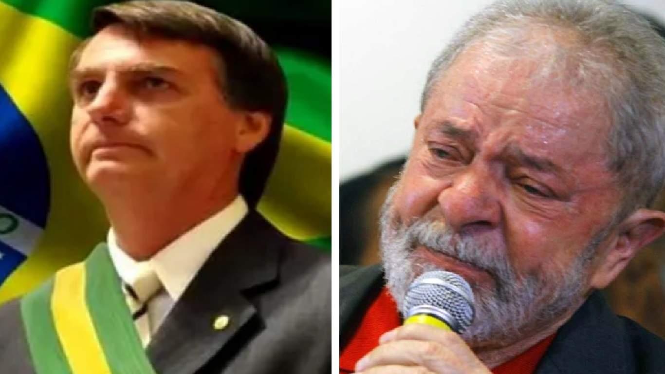 Bolsonaro deve se tornar homem mais votado do Brasil, superando Lula - Foto/Montagem