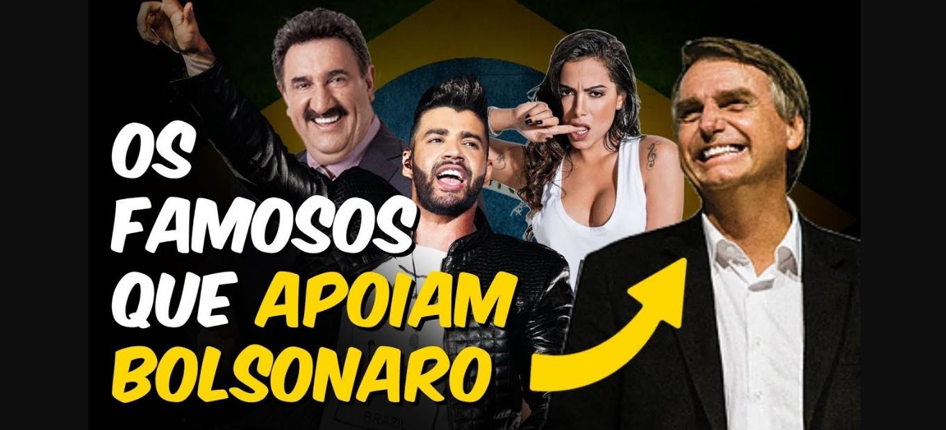 Famosos que apoiam Bolsonaro como presidente - Foto/Montagem