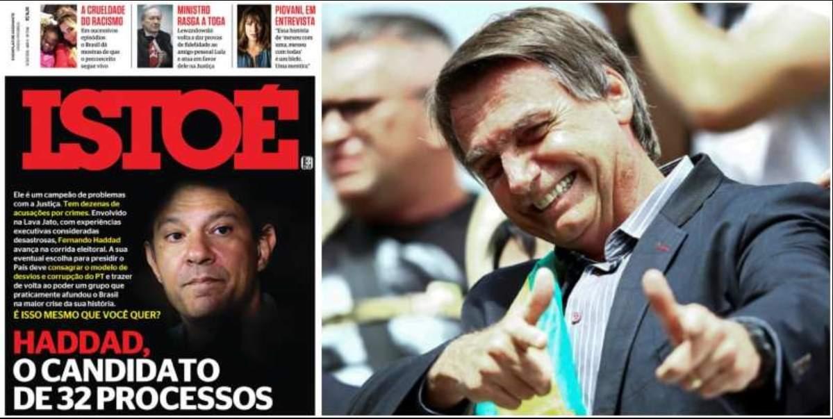 Revista Istoé traz Haddad e seus processos - Foto/Divulgação