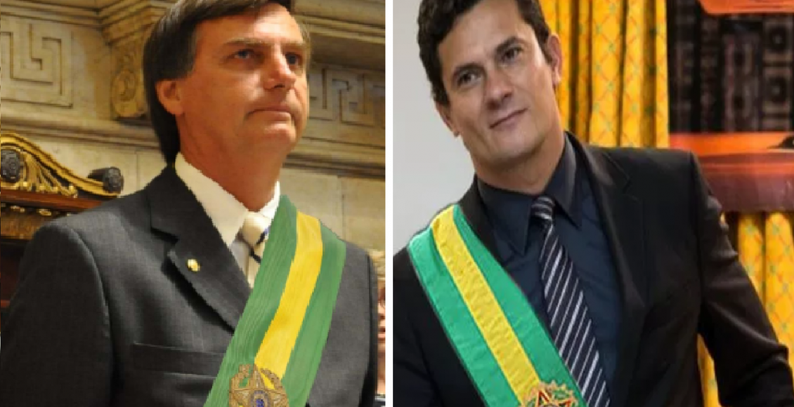Sérgio Moro é cotado para suceder Jair Bolsonaro na presidência da república – Foto/Montagem