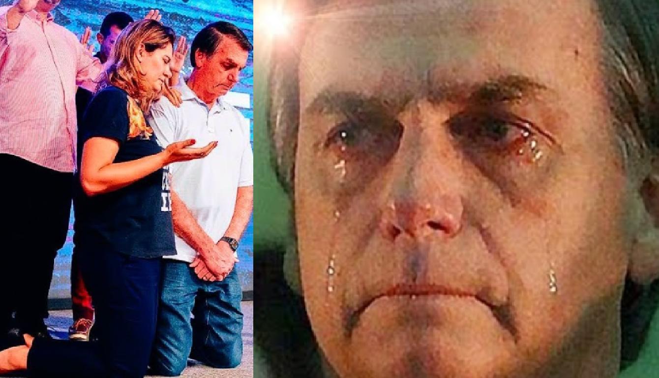 Bolsonaro se emociona em culto no Rio de Janeiro - Foto/Divulgação