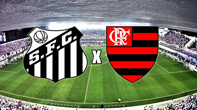 Flamengo x Santos ao vivo - Foto/Montagem