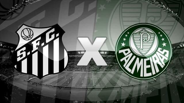 Onde assistir jogo Santos x Palmeiras ao vivo. Imagem/Montagem