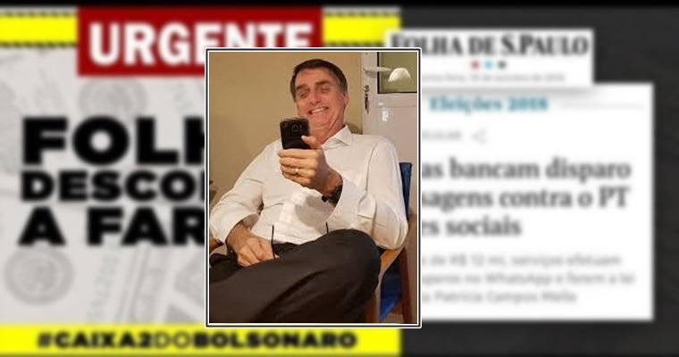 WhatsApp nega envio de mensagens em massa para campanha de Bolsonaro. Foto/Montagem