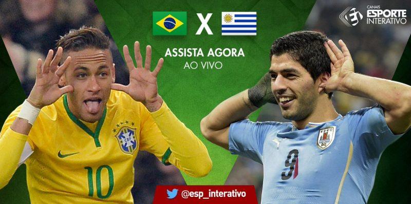Saiba como assistir Brasil x Uruguai ao vivo online e na televisão -  Foto Montagem e2cecb1393d12