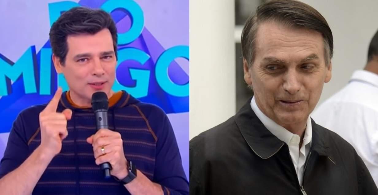 Celso Portiolli detona fã que criticou Bolsonaro e vinheta do SBT que fazia referência à ditadura - Foto/Montagem