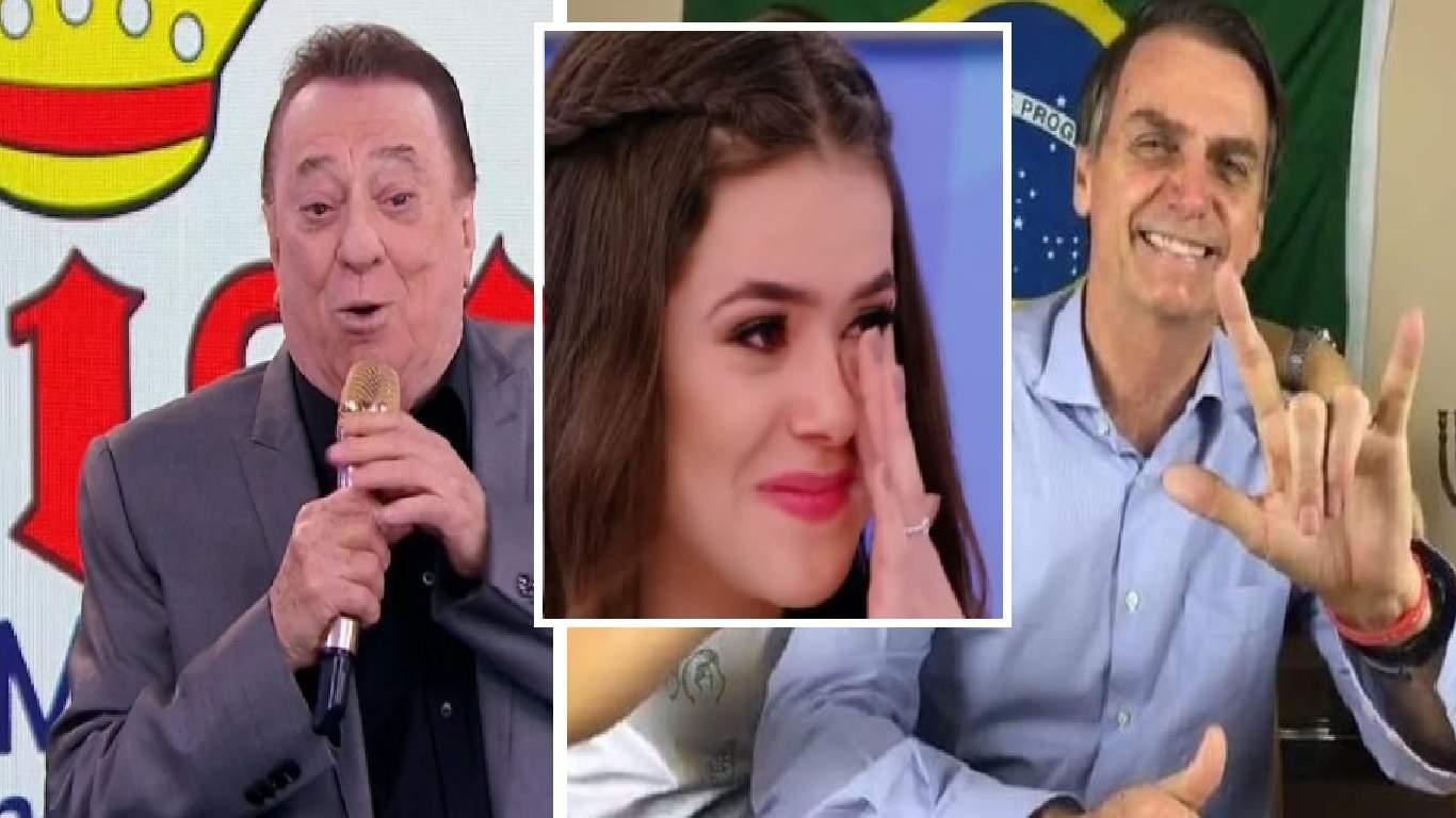 Raul Gil fala de Bolsonaro ao vivo no Teleton do SBT e Maísa Silva o interrompe - Foto/Divulgação
