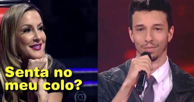 Claudia Leitte mandou rapaz sentar em seu colo no The Voice, mas criticou Silvio Santos por 'constrangimento' - Foto/Divulgação