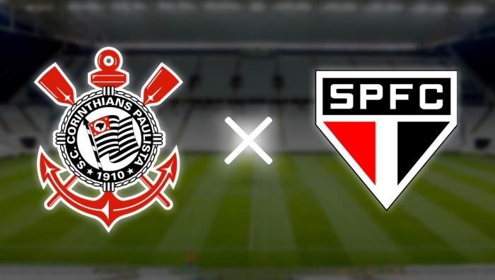 São Paulo x Corinthians ao vivo online - Foto/Montagem