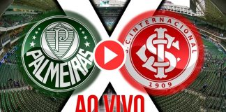 Palmeiras x Internacional ao vivo. Imagem/Reprodução