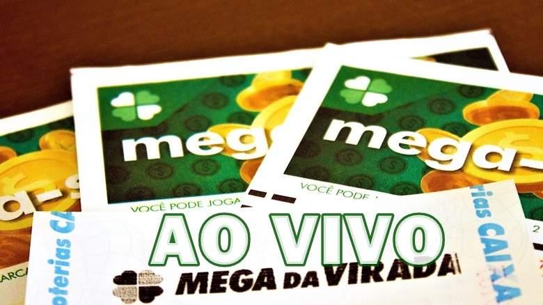Sorteio da Mega-Sena da Virada ao vivo. foto/Montagem