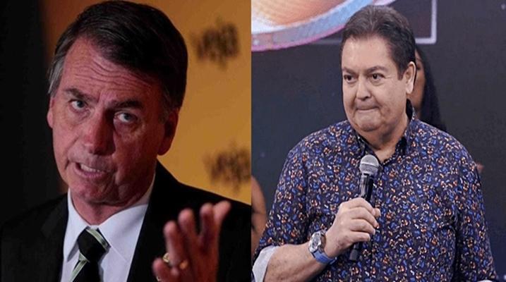 Apresentador Fausto Silva atacou Jair Bolsonaro, site diz que site 247. Foto/Montagem