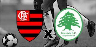 Assistir Flamengo e Boavista ao vivo online. Foto/Montagem