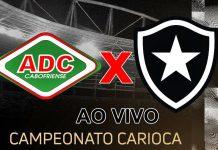 Cabofriense x Botafogo AO VIVO. (Montagem)