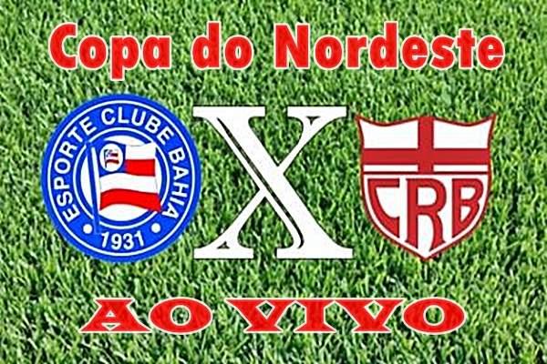 Copa do Nordeste jogo BahiaxCRB ao vivo. Foto/Montagem
