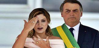 Discurso de Michelle na posse do presidente Bolsonaro. Foto/Captura
