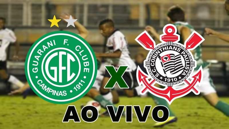 Guarani x Corinthians Campeonato Paulista ao vivo. Imagem/Montagem