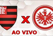 Jogo do Flamengo x Eintracht Frankfurt ao vivo Copa Florida. Foto/Montagem
