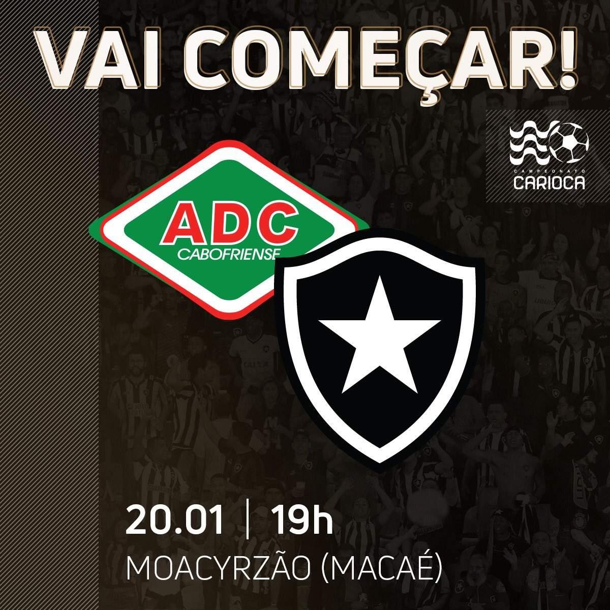 Assistir Cabofriense x Botafogo AO VIVO. (Montagem)