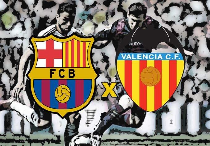 Assistir Barcelona x Valencia online en directo. Foto/Montagem