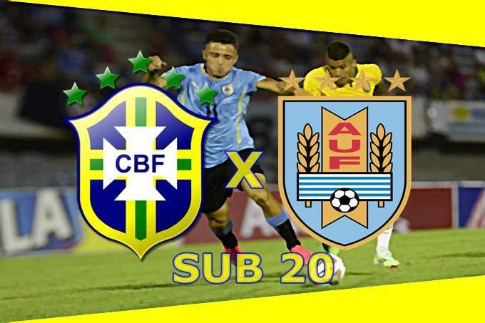 Jogo da seleção sub-20 Brasil x Uruguai ao vivo. Foto/Montagem