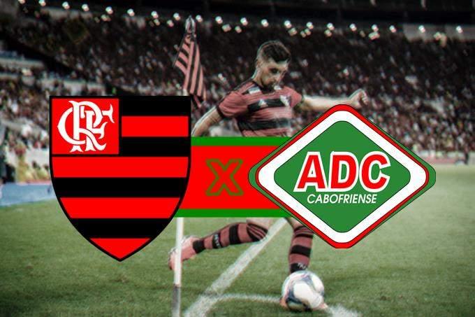 Onde vai passar Flamengo ao vivo x Cabofriense . Foto/Montagem