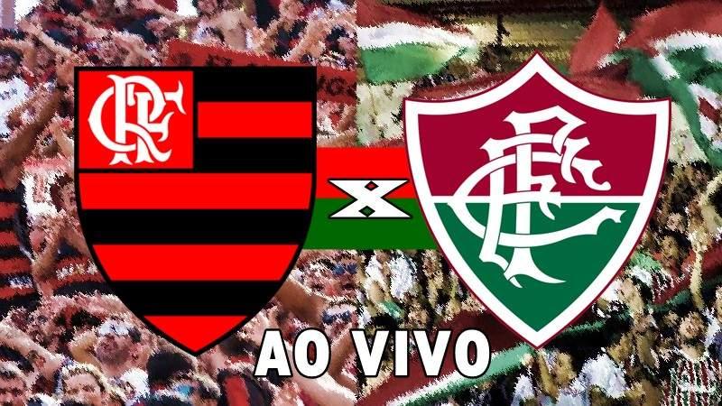 Jogo Flamengo x Fluminense ao vivo. Foto/Montagem
