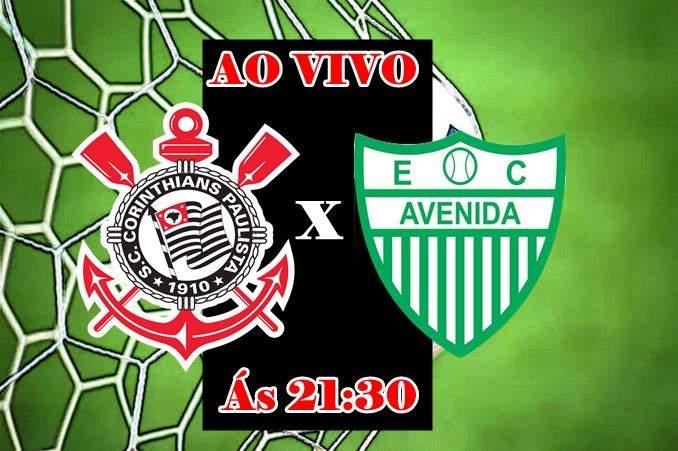 Jogo do Corinthians x Avenida ao vivo. Foto/Montagem
