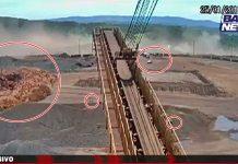 Novo vídeo do rompimento da barragem Brumadinho. Imagem/Captura de Tela