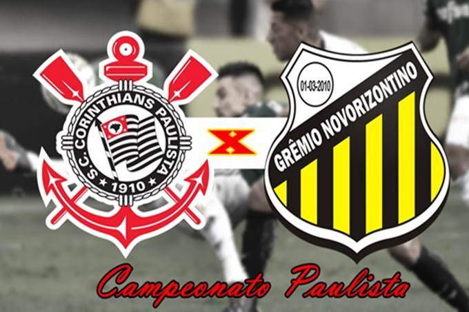 Partida Corinthians x Novorizontino ao vivo. foto/Montagem