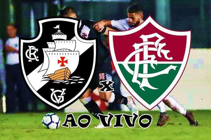 Vasco e Fluminense ao vivo na TV. Foto/Montagem