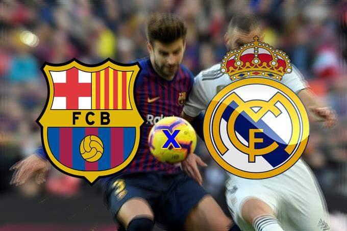 Assistir o jogo do Barcelona e Real Madrid ao vivo. Foto/Montagem