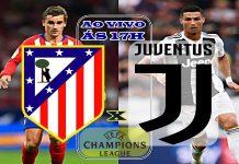 Atletico Madrid vs Juventus ao vivo. Foto/Reprodução