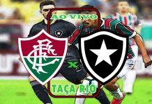 Jogo Fluminense X Botafogo ao vivo. Foto/Montagem