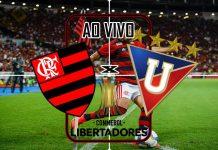 Jogo Flamengo e LDU ao vivo. Foto/Montagem